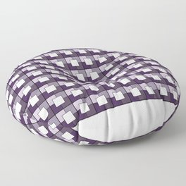 Purple Squares. Manchester Architectural Collection Floor Pillow