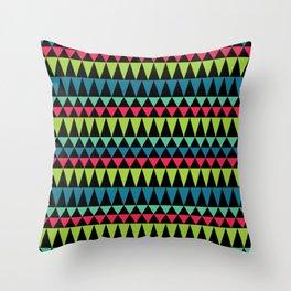 Neon Southwestern Pattern Throw Pillow