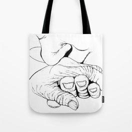 Elderly couple Tote Bag
