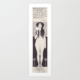 Naked Truth or Nuda Veritas Art Print