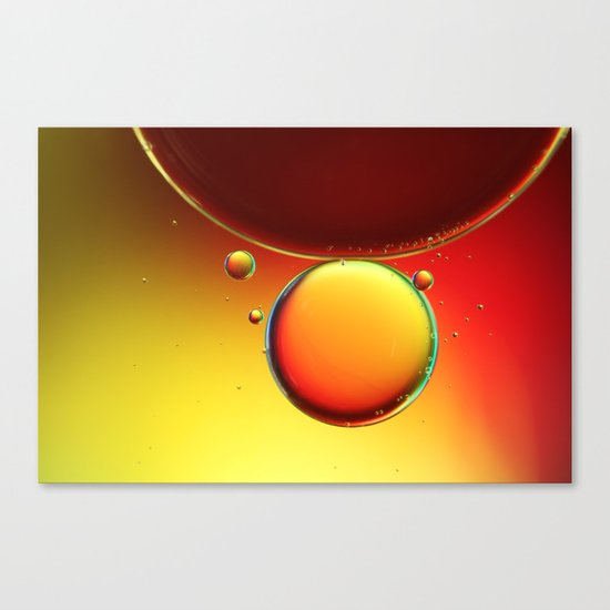 Abstract Oil Drops III Canvas Print