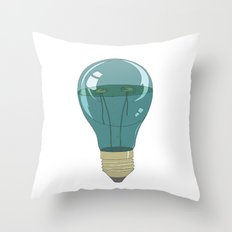 Life in a lightbulb. Night Throw Pillow