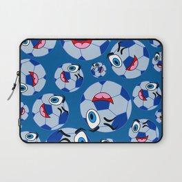 SoccerComis Blue Laptop Sleeve