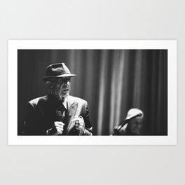 Leonard Cohen concert photo Art Print