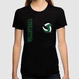 Volleyball Game - Dark Green T-shirt