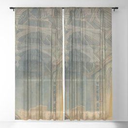 "J.M.W. Turner ""Interior of St. John's Palace, Eltham"" Sheer Curtain"