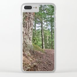 WOODED PATHWAY BY THE LAKE Clear iPhone Case