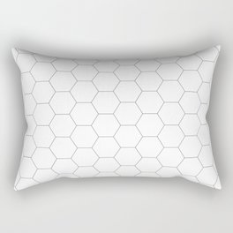 Honeycomb black and white pattern Rectangular Pillow