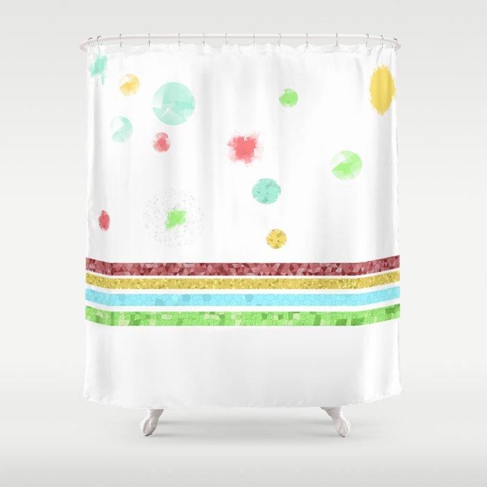 Pastel Bubbles Shower Curtain