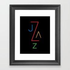 Jazz Type Framed Art Print