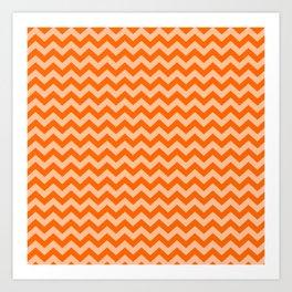 Tangerine Moroccan Moods Chevrons Art Print