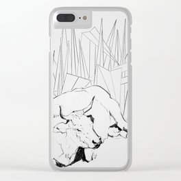 Collage Cow 41 Clear iPhone Case