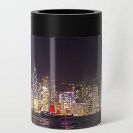Hong Kong Night Skyline Can Cooler