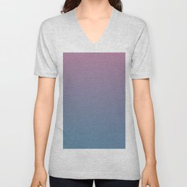 YOUTHFUL WATERS - Minimal Plain Soft Mood Color Blend Prints Unisex V-Neck