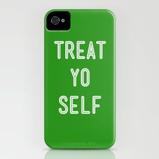 Treat Yo Self Green - Parks and Recreation Slim Case iPhone (4, 4s)