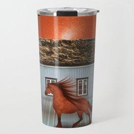 The red horse Travel Mug