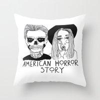 ahs Throw Pillows featuring AHS by ☿ cactei ☿