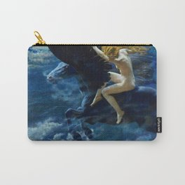 Classic Masterpiece 'Dream Idyll, Female Valkyrie Warrior & Pegasus over London' Carry-All Pouch