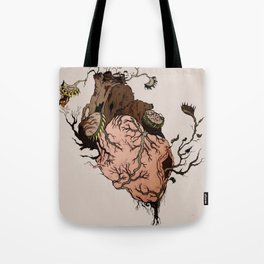 Carnivorous Plant Heart Tote Bag