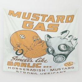 Vintage poster - Mustard Gas Wall Tapestry