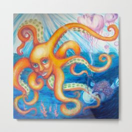 Sea Creatures Metal Print