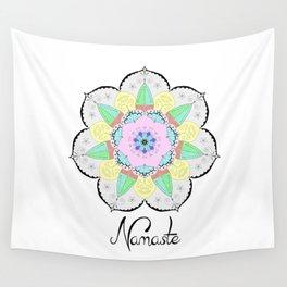 Mandala Art Flower Design Patterns Boho Pastel Wall Tapestry
