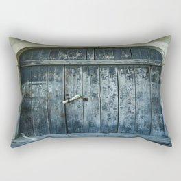 Blue door Rectangular Pillow