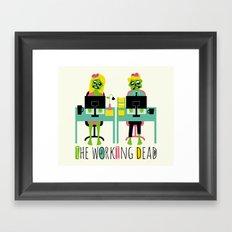 The working dead Framed Art Print