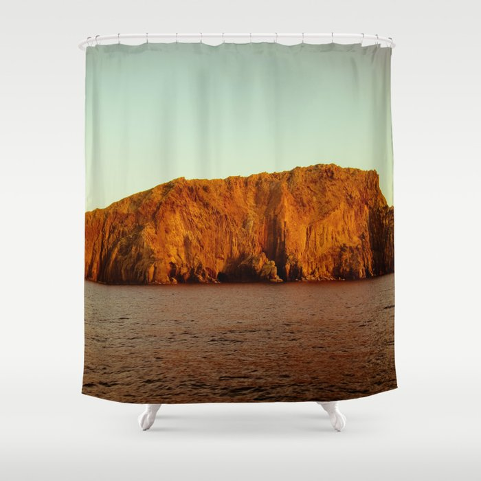 Mediterranean Island Shower Curtain