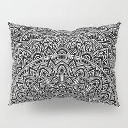 Zen Black and white Mandala Pillow Sham