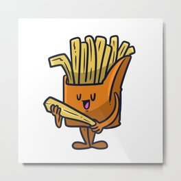 French Fast Food Love To Eat Metal Print