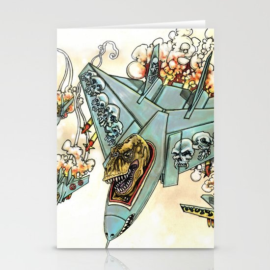 Tyrannosquadron Rex! Stationery Cards