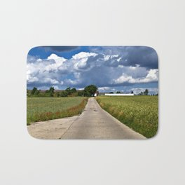 Summer Field Poetry Bath Mat