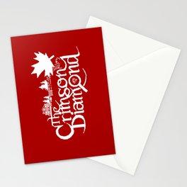The Crimson Diamond monochromatic logo Stationery Cards
