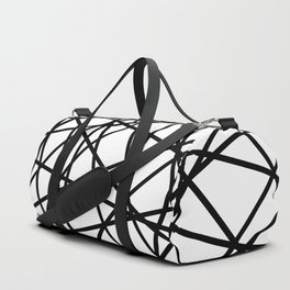 Lazer Dance Black on White Duffle Bag