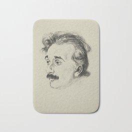 Albert Einstein, illustrated in 1923 Bath Mat