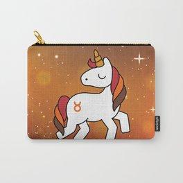Taurus Unicorn Zodiac Carry-All Pouch