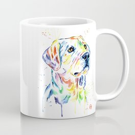 Yellow Lab Colorful Watercolor Painting - Puppy Star Coffee Mug