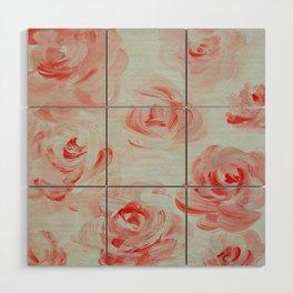 Pale Roses Wood Wall Art