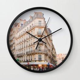 Sunset in Saint-Germain - Paris Photography Wall Clock