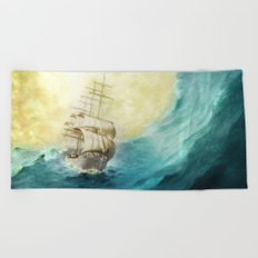 Through Stormy Waters Beach Towel