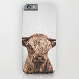 Highland Calf - Colorful iPhone Case