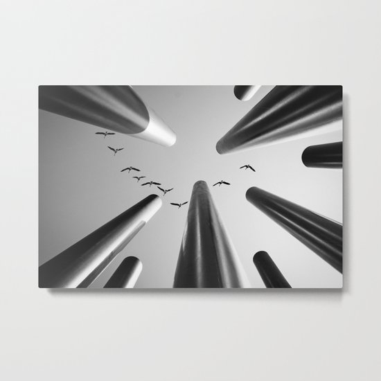 High above... Metal Print