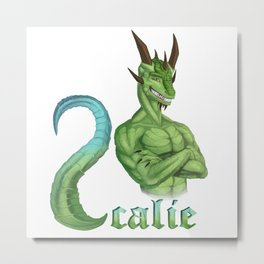 Scalie Lizard Metal Print