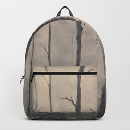 Misty Forest - Birch trees Backpack