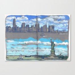 Arrivée à New-York Canvas Print