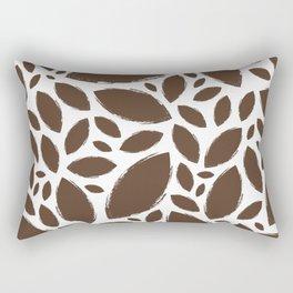 Painted Tree Leaves V1 - Brown Rectangular Pillow