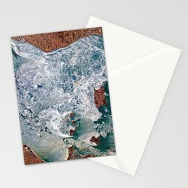 Lake Erie Islands in winter Stationery Cards