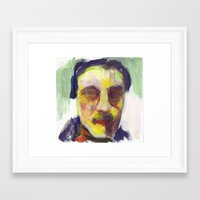 poe Framed Art Prints featuring poe by katy zimmerman