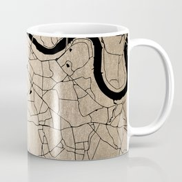 London Gold on Black Street Map II Coffee Mug
